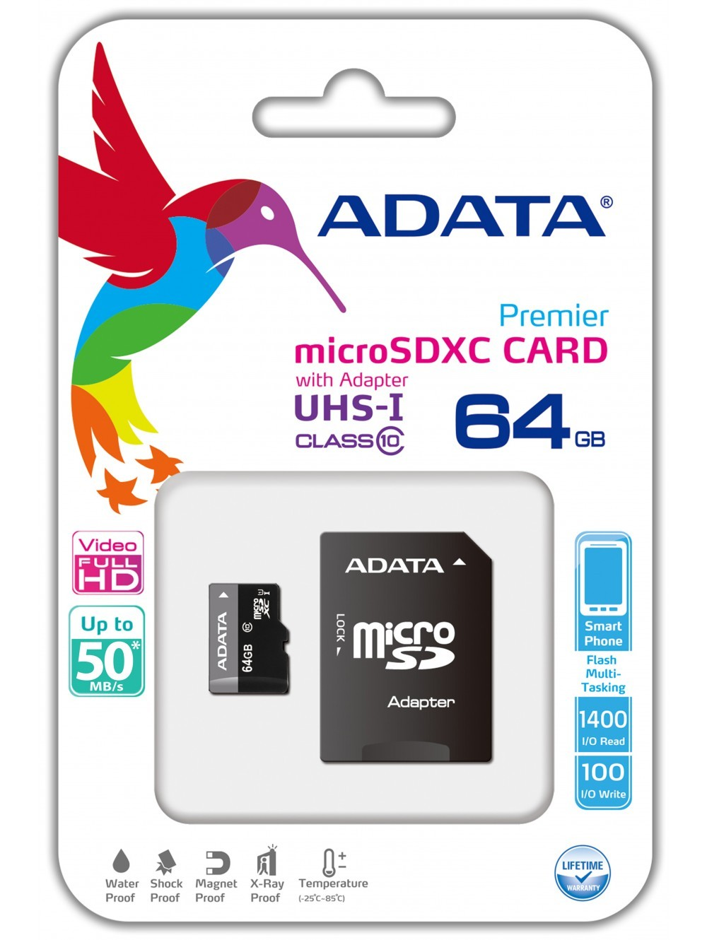 MEMORIA MICRO SD 64GB A-DATA CLASS 10 UHS-1