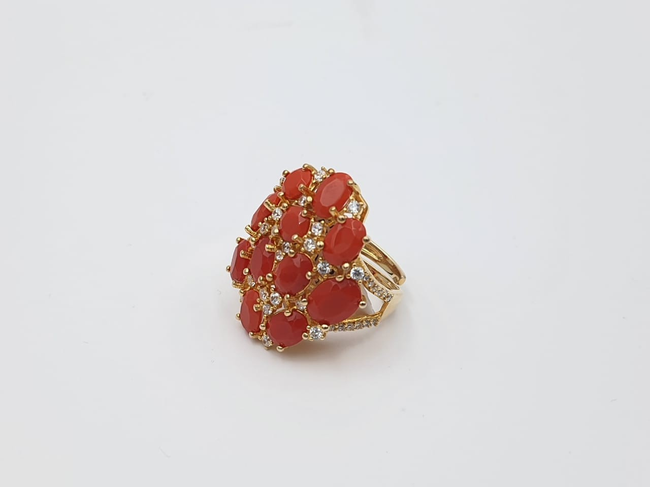 Anillo Plata Coral Fashion