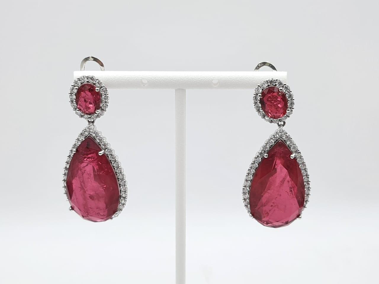 Arete Plata Zircon Rojo Fashion
