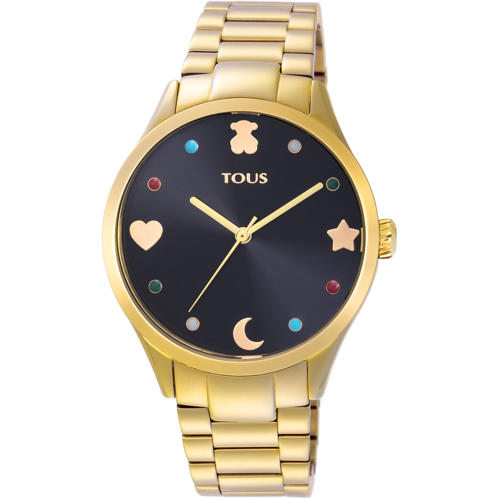 Reloj Super Power Negro-Dorado Tous TTSPS - TDT