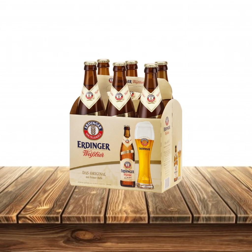 Cerveza Erdinger Weissbier Sixpack
