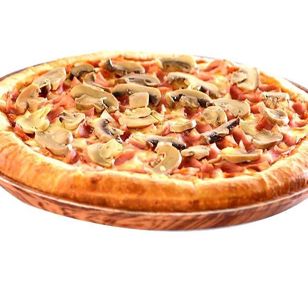 Pizza Jamón y Hongos